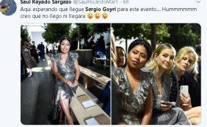 Yalitza asiste a Semana de la Moda y fans recuerdan a Sergio Goyri