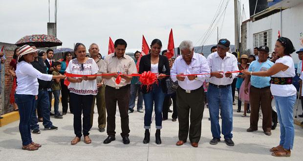 Destacan labor de Antorcha en Izúcar para pavimentaciones y escuela