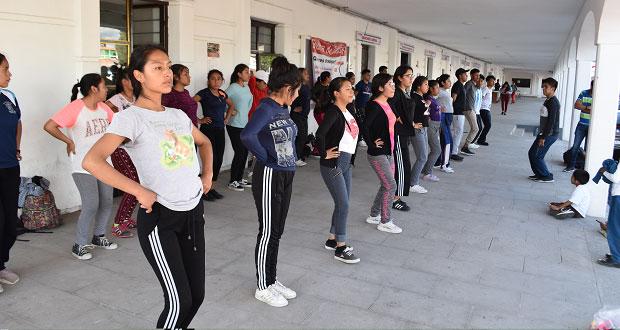 En Ocoyucan, Antorcha imparte talleres artísticos para jóvenes