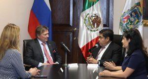 Barbosa acuerda con embajador ruso instalar consulado honorario
