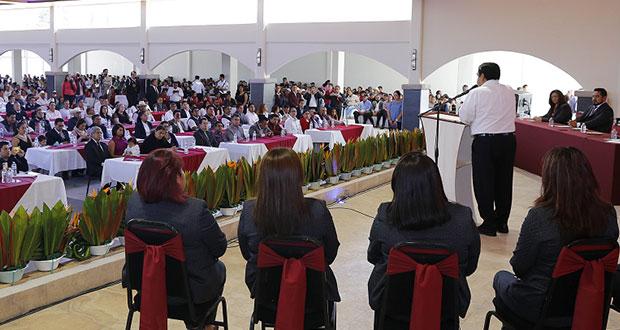 Barbosa anuncia construcción de planta tratadora de agua en Serdán