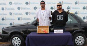 Caen 2 hombres por robo de automóvil en San Francisco Totimehuacán