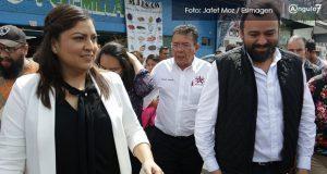 Rivera recorre mercado Unión; proyectan sector policial y estancia infantil