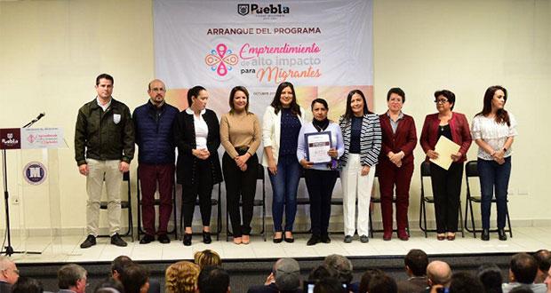 Comuna de Puebla asesorará en emprendimiento a migrantes poblanos