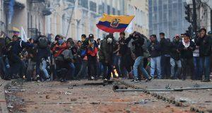 Continúan manifestaciones en Ecuador; habría 714 detenidos