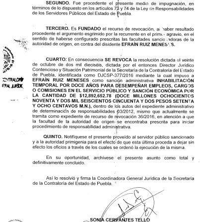 Contraloría revocó multa de 12 mdp a Efraín Ruiz, exfuncionario marinista