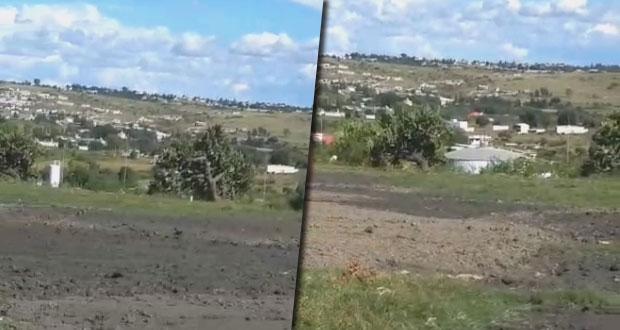 En Alseseca, Agua de Puebla vierte sus lodos residuales en campos