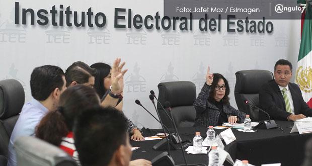 IEE aprueba en sesión las multas para el PT, Morena y Verde Ecologista