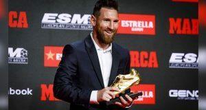 Lionel Messi recibe su sexta bota de oro por sus 36 goles