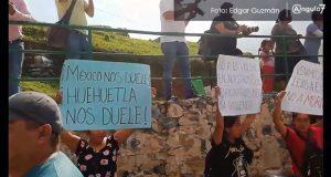 Pobladores de Huehuetla piden a AMLO esclarecer homicidio de Eduardo Adrián