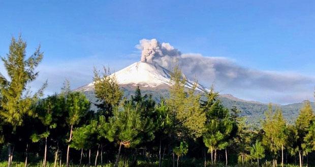 Popo, con 211 exhalaciones y 4 explosiones, sigue en Amarillo Fase 2