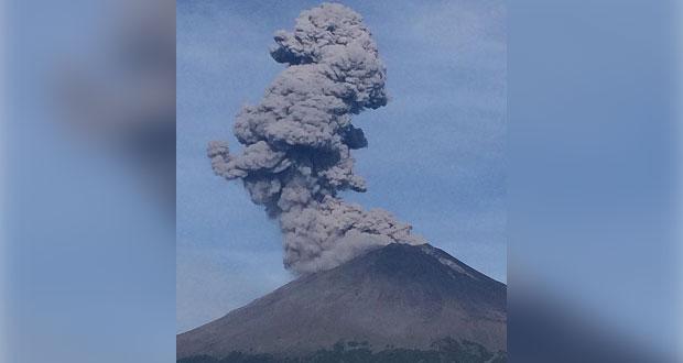 Popo, con 193 exhalaciones y 20 explosiones; sigue en Amarillo Fase 2