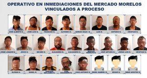 Procesan por secuestro a 25 de banda desarticulada en mercado Morelos