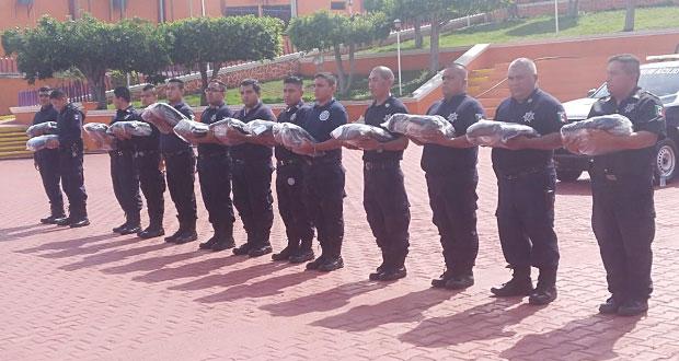 Profesionalizan cuerpo policiaco de Tecomatlán