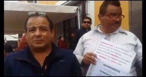 Protestan en Casa Aguayo contra alza de tarifa de transporte público