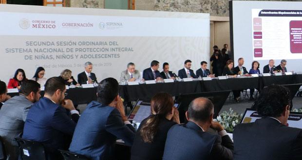 Puebla se une a la estrategia nacional de protección infantil