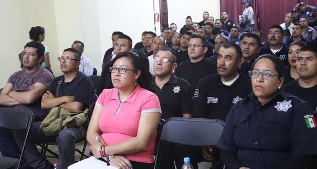 Tepexi brinda capacitación a policías ante casos de linchamiento