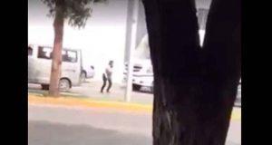 En Zacatecas, mujer causa accidente por no usar puente peatonal