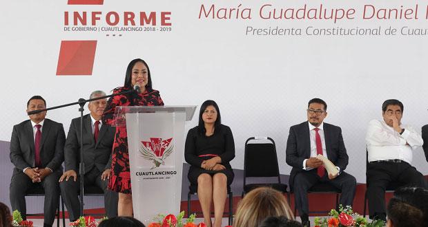 En informe, alcaldesa de Cuautlancingo anuncia nuevo hospital