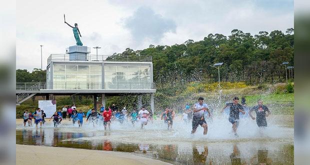 100 poblanos corren la primera Carrera Salvaje en cerro de Amalucan