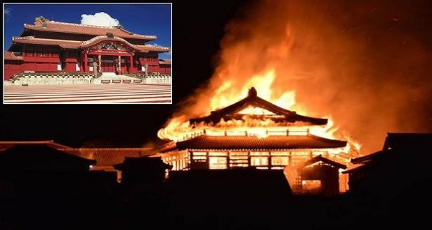 Se incendia el castillo Shuri en Japón, era Patrimonio Mundial