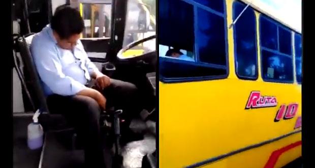 Conductor de ruta 10 se queda dormido en plena 14 Sur