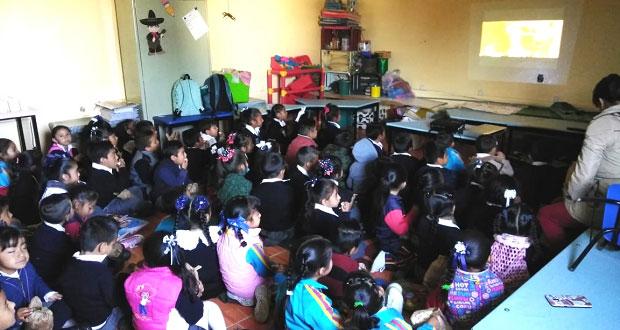 Con cine, Segob estatal divierte y promueve valores en niños poblanos