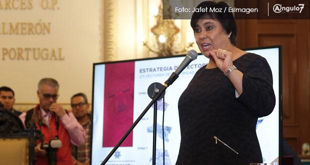 Rosales sostiene que delitos bajan en Puebla; Morena la cobija y PAN la critica