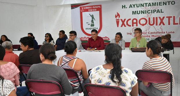 Preparan convenios para 6 desayunadores escolares en Ixcaquixtla