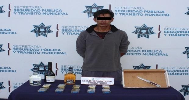 Ssptm detiene a hombre por robo a Oxxo; estaría vinculado a 8 casos