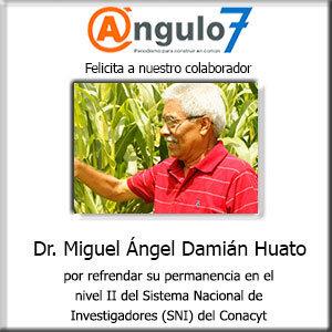 Felicitación Dr Miguel Ángel Damián Huato
