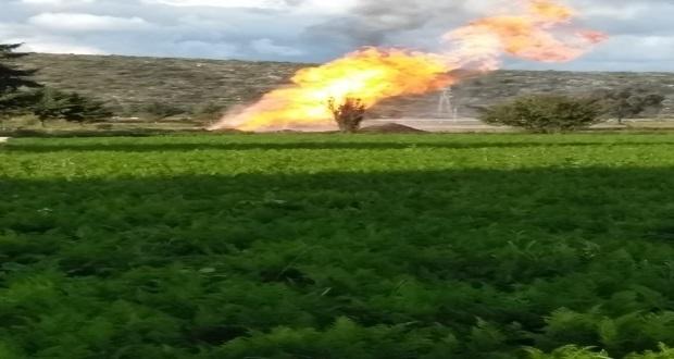Para evaporar gas, prenden fuego controlado a fuga de Tepeaca