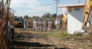 Toma clandestina de gas LP provoca incendio en Huejotzingo