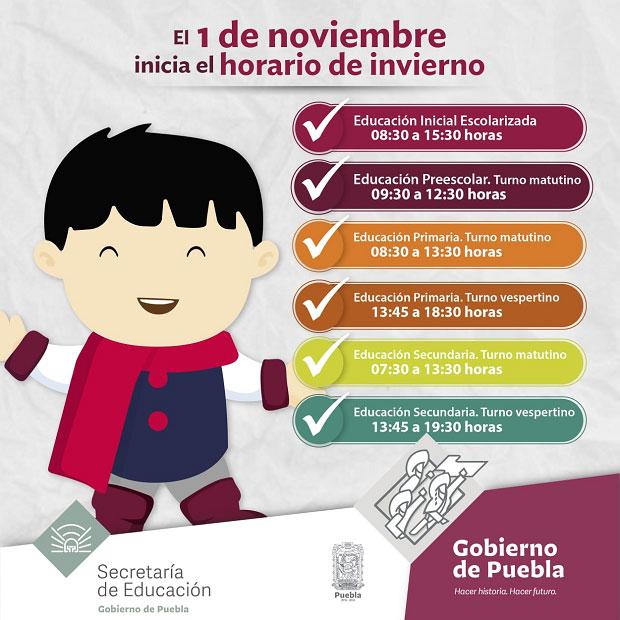 El 1 de noviembre inicia horario de invierno en escuelas: SEP