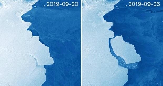 Iceberg más grande que la CDMX se desprende de la Antártida