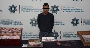 Detiene Ssptm a empleado de gasolinera por robo en Las Cuartillas. Foto: Especial.
