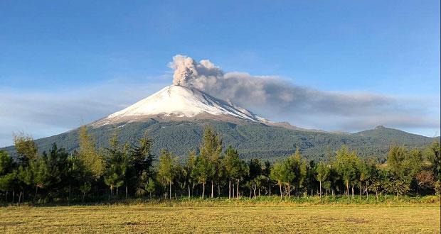 Con 177 exhalaciones y 2 explosiones, actividad de Popo sigue estable