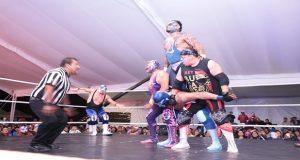 Con función de lucha libre, inauguran exposición en el MIB