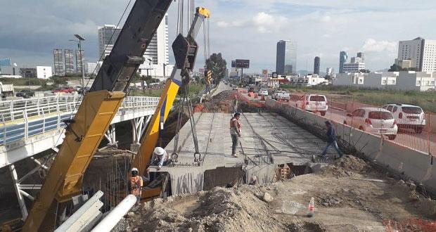 Al 95 por ciento, avance del puente Santa Clara en periférico