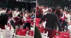 Captan peleas y división entre morenistas en asamblea de Puebla