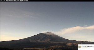 Popocatépetl disminuye actividad en las últimas horas: PC estatal
