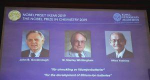 Ganan Nobel de Química los desarrolladores de la batería de litio