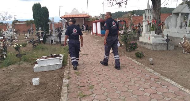 Activan protocolos de prevención en Puebla por Día de Muertos