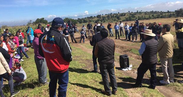 Avanza construcción de tanque de agua en Nopalucan; invierten 3 mdp