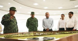 AMLO y Barbosa supervisan avances de fases 3 y 4 en Industria Militar