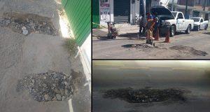 Por presión ciudadana, Agua de Puebla repara daños en avenida Nacional
