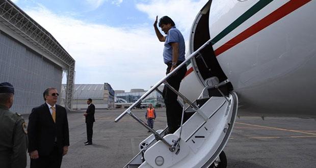 """Al llegar a México, Evo Morales agradece a AMLO por """"salvar mi vida"""""""