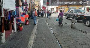 Ambulantes respetan acuerdo y no se instalan en calles del CH por Buen Fin