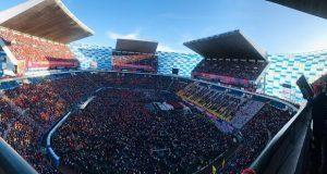 Destacan jóvenes por mosaico monumental en estadio Cuauhtémoc