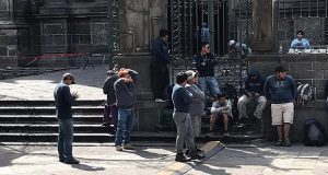 Sin reanudar instalación de réplica de Capilla Sixtina en atrio de Catedral